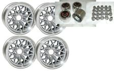 TRANS AM 15X8 SNOWFLAKE KIT- SILVER WHEELS -STAINLESS CENTER CAPS & NEW LUG NUTS