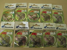 Hayabusa Fishing Hooks High Carbon Steel Carp Pike Drop Shot 10 pcs All Types