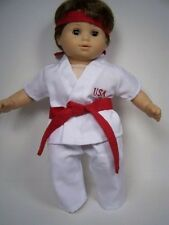 Karate MARTIAL ARTS Kung-Fu Costume Doll Clothes For Bitty Baby Boy (Debs)