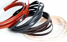 FLAT Leather cord 3MM  -Polished -cut lengths  -  Leather Lace - Leather Strips
