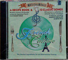 FRENCH CUISINE - RECIPE BOOK & 12 CLASSIC SONGS - SONY MUSIC - 1994 CD - SEALED