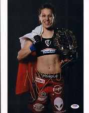 JOANNA JEDRZEJCZYK SIGNED AUTO'D 11X14 PHOTO PSA/DNA COA Z78374 MMA UFC CHAMPION