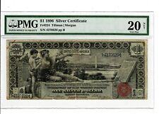1896 $1 Fr #224 Silver Certificate EDUCATIONAL Note US Currency PMG VF-20 #2056