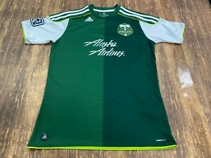 Portland Timbers Adidas Green MLS Soccer Jersey - Youth XL