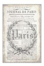 Old Vintage Paris Journal Page--7 cm wide x 15 cm High--Printed on 160gsm Paper