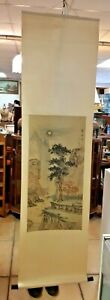 Vintage Hand Painted & Signed Chinese Scroll