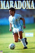 Vintage Original DIEGO MARADONA Team Argentina World Cup 1990 Soccer POSTER