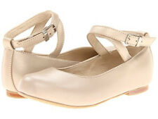ELEPHANTITO Champagne Leather Ballet Flats Mary Jane Ankle Strap Toddler Girls 9