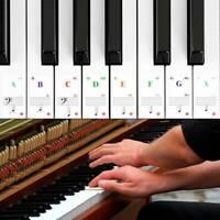 Keyboard Noten Aufkleber Piano Sticker Klavier Aufkleber 88/61/54/49/37 tasten