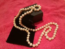 100cm Long GENUINE PEARL NECKLACE Rope Wedding Black Dress Gift NEW