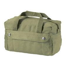 Olive Drab Canvas Mechanics Shop G.I. Type Medic Tool Utility Duffle Bag Box