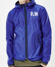 G Star Raw Packable Blue Full Zip Long Sleeve Hooded Jacket Mens XL *Ref38