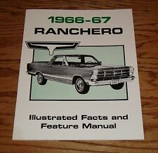 1966 - 1967 Ford Ranchero Illustrated Facts & Feature Manual 66 67