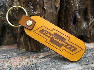 CHEVROLET key chain Genuine leather key ring 1386