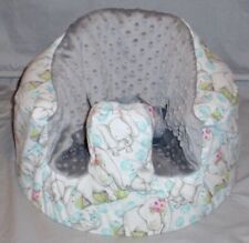 New Bumbo Floor Seat Cover • Flannel Mom & Baby Elephant • Safety Strap Ready