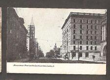 Vtg Postcard Tuscarawas Street Courtland Hotel Canton O Ohio OH Early UDV