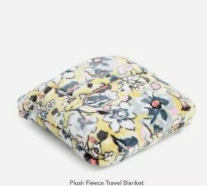 "Vera Bradley Plush Fleece Travel Throw Blanket/Pillow SUNNY GARDEN 60"" X 45"""
