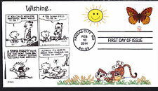 CALVIN and HOBBES  WISHING  HAPPY  BUTTERFLY       FDC- DWc  CACHET