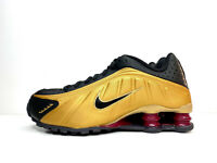 Nike Shox R4 GS Trainers Shoes Metallic Gold UK 6 EUR 40 US 7Y BQ4000 003