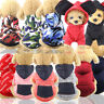 New Soft Fleece Dog Jumpsuit Winter Dog Clothes Small Puppy Coat Pet Outfits