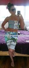 Clover Canyon Pencil Skirt Crop Top Co Ord 2 Piece Bodycon Spandex Beach S