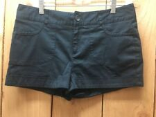 Forever 21 Cotton Black Shorts With Pockets Size Large Rolled Cuff