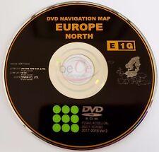 TOYOTA LEXUS ORIGINALE DVD di navigazione e1g 2018 North Europe Nord Europa update!