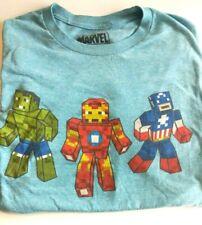Minecraft Marvel Avengers Youth Size Medium T-shirt Hulk Capt America Iron Man