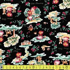 Lecien Fabric Little Red Riding Hood Retro Black PER METRE 0