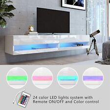Floating TV Stand Entertainment Center 20 Color LED Wall Mounted for 80 inch TV