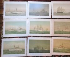 1893 FRED COZZENS OLD NAVAL PRINTS LITHOGRAPH SHIP PRINTS BOOK All 24 Warships