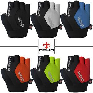 DEKO Men Cycling Gloves Bike Half Finger Bicycle Gel Padded Fingerless Sports