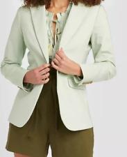Women's Long Sleeve Blazer - A New Day™ Mint Size 12  Business Workwear