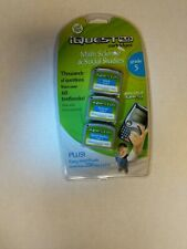 Leap Frog iQuest Cartridges Math & Social Studies Grade 5 New In Sealed Package