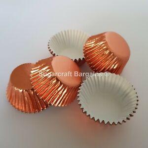 60 x PETITE FOUR CASES SWEETS ROSE GOLD FOILED Colour Design FESTIVE Truffles