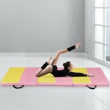 6' x 2' Folding Fitness Exercise Gymnastics Yoga Mat Pad Foam W/ Carry Handle Us