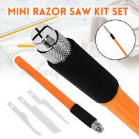 Mini Metal Handy Craft Hobby Razor Saw Modeling + 3x Blades Multifunction