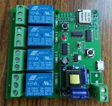 Ac 220V Wifi Wireless Switch Relay Delay Module 4-Way Control For Smart Hom Ic O
