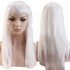 Thick Long Curly Straight Full Wig Costume Party Fancy Dress Heat Resistant Red