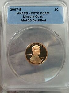 Deep Cameo Proof 2007-s Lincoln Penny ANACS PR70 DCAM.  #40