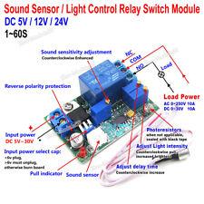 5V/12V/24V Sound/Light Controller Relay Module Delay Sensor 10-100db Adjustable