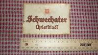 OLD 1950s AUSTRIAN BEER LABEL, BRAUEREI SCHWECHAT VIENNA AUSTRIA, CHRISTKINDL