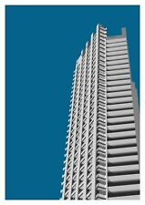 Barbican Tower graphic design giclée print size A3