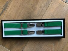 Emerald Green (not Forest Green)  half inch braces Top quality UK made Skinhead