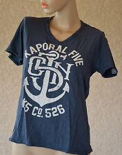 KAPORAL Très joli tee-shirt bleu col en V - taille M - EXCELLENT ÉTAT