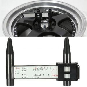 Car Wheel Bolt Pattern Gauge Tool Quick Pro 4 5 6 8 Lug Measuring Measurement