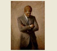 John F. Kennedy Official Portrait PHOTO, Art Print,President White House 1970
