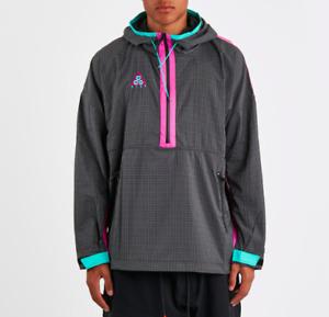Men's Nike ACG Woven Hooded Jacket -Anthracite/Magenta/Jade-Reg $150- Sz XL -NEW