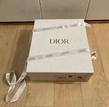 DIOR Authentic White Empty Shoe Gift Box 13 x 11 x 4.5 w/ Gold Logo Tissue Paper