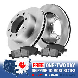 Rear Brake Rotors And Metallic Pads For 2007 2008 2009 2010 2011 Ford F250 F350